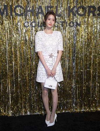 New York, NY, USA - February 13, 2019: Im Yoon-ah attends the Michael Kors Collection Fall 2019 Runway Show during New York Fashion Week at Cipriani Wall Street, Manhattan Sajtókép