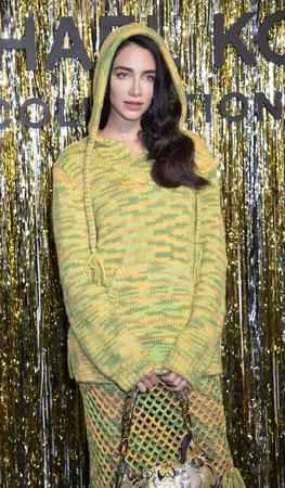 New York, NY, USA - February 13, 2019: Jessica Kahawaty attends the Michael Kors Collection Fall 2019 Runway Show during New York Fashion Week at Cipriani Wall Street, Manhattan Sajtókép