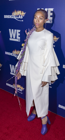 New York, NY, USA - March 13, 2019: Lil Mama attends WEtvs premiere fashion event celebrating the return of Bridezillas at Angel Orensanz Foundation, Manhattan