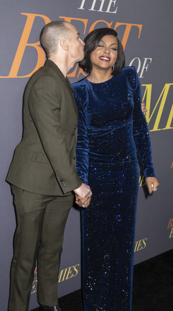 New York, NY, USA - April 4, 2019: Sam Rockwell and Taraji P. Henson attend 'The Best Of Enemies' New York Premiere at AMC Loews Lincoln Square, Manhattan Editorial