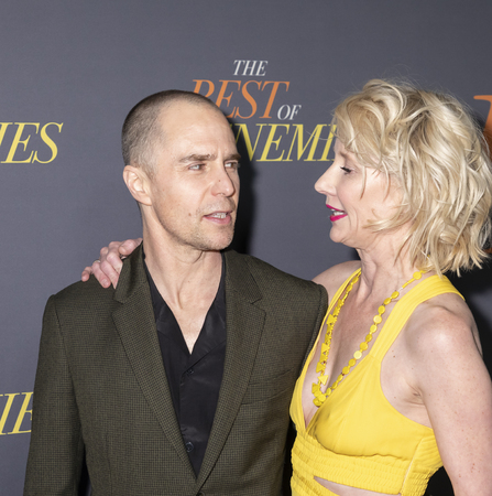 New York, NY, USA - April 4, 2019: Sam Rockwell and Anne Heche attend 'The Best Of Enemies' New York Premiere at AMC Loews Lincoln Square, Manhattan Editorial