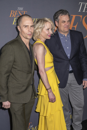 New York, NY, USA - April 4, 2019: Sam Rockwell, Anne Heche and Robin Bissell attend 'The Best Of Enemies' New York Premiere at AMC Loews Lincoln Square, Manhattan Editorial