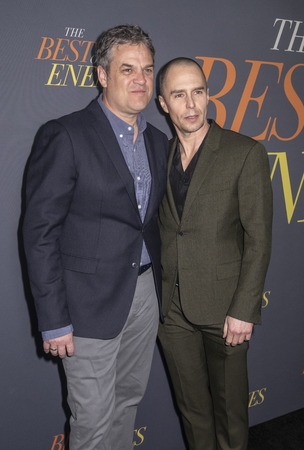 New York, NY, USA - April 4, 2019: Robin Bissell and Sam Rockwell attend 'The Best Of Enemies' New York Premiere at AMC Loews Lincoln Square, Manhattan
