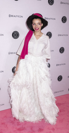 New York, NY, USA - April 6, 2019: Blair Imani attends Beautycon Festival NYC 2019 at Jacob K. Javits Convention Center, Manhattan