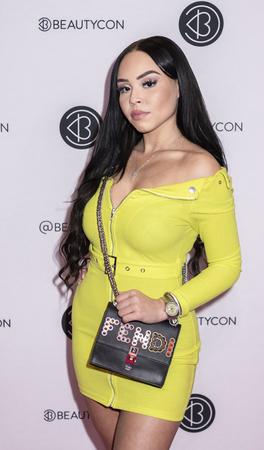 New York, NY, USA - April 6, 2019: Karina Seabrook attends Beautycon Festival NYC 2019 at Jacob K. Javits Convention Center, Manhattan Редакционное