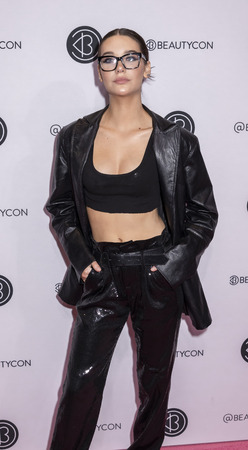 New York, NY, USA - April 6, 2019: Amanda Steele attends Beautycon Festival NYC 2019 at Jacob K. Javits Convention Center, Manhattan