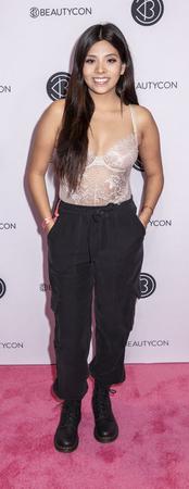 New York, NY, USA - April 6, 2019: Lulu Benavides attends Beautycon Festival NYC 2019 at Jacob K. Javits Convention Center, Manhattan