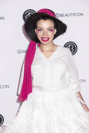 New York, NY, USA - April 6, 2019: Blair Imani attends Beautycon Festival NYC 2019 at Jacob K. Javits Convention Center, Manhattan Фото со стока - 120753737