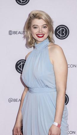 New York, NY, USA - April 6, 2019: Khrystyana attends Beautycon Festival NYC 2019 at Jacob K. Javits Convention Center, Manhattan Фото со стока - 120753740