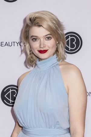 New York, NY, USA - April 6, 2019: Khrystyana attends Beautycon Festival NYC 2019 at Jacob K. Javits Convention Center, Manhattan Фото со стока - 120753761