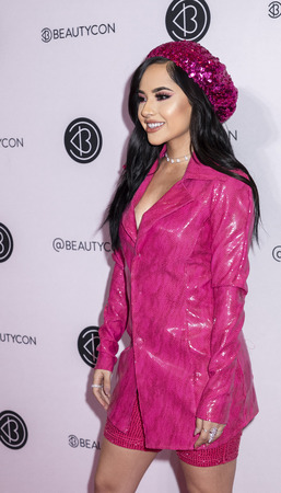 New York, NY, USA - April 6, 2019: Becky G attends Beautycon Festival NYC 2019 at Jacob K. Javits Convention Center, Manhattan Фото со стока - 120753763