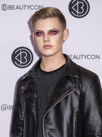 New York, NY, USA - April 6, 2019: Trevor Barrett attends Beautycon Festival NYC 2019 at Jacob K. Javits Convention Center, Manhattan Sajtókép