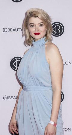 New York, NY, USA - April 6, 2019: Khrystyana attends Beautycon Festival NYC 2019 at Jacob K. Javits Convention Center, Manhattan Редакционное