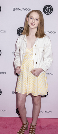 New York, NY, USA - April 6, 2019: Riley McEvoy attends Beautycon Festival NYC 2019 at Jacob K. Javits Convention Center, Manhattan