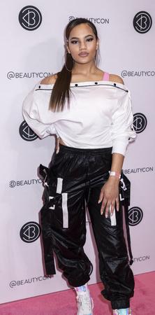 New York, NY, USA - April 6, 2019: Lyric Chance attends Beautycon Festival NYC 2019 at Jacob K. Javits Convention Center, Manhattan