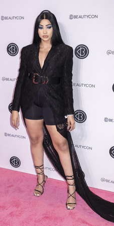 New York, NY, USA - April 7, 2019: Melly Sanchez attends Beautycon Festival NYC 2019 at Jacob K. Javits Convention Center, Manhattan Фото со стока - 120753887