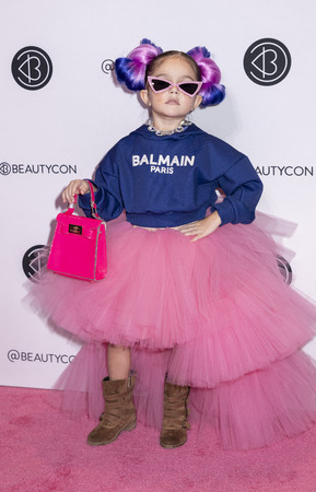 New York, NY, USA - April 7, 2019: Taylen Biggs attends Beautycon Festival NYC 2019 at Jacob K. Javits Convention Center, Manhattan