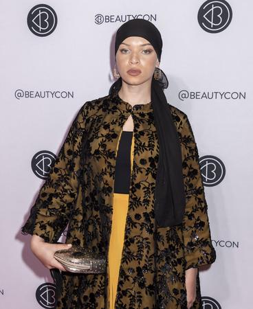 New York, NY, USA - April 7, 2019: Blair Imani attends Beautycon Festival NYC 2019 at Jacob K. Javits Convention Center, Manhattan