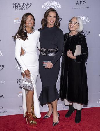 New York, NY, USA - April 15, 2019: Ruthie Davis, Brooke Shields and Eileen Fisher attend AAFA American Image Awards 2019 at The Plaza, Manhattan Redakční