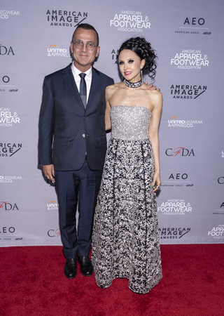 New York, NY, USA - April 15, 2019:Steven Kolb and Stacey Bendet Eisner attend AAFA American Image Awards 2019 at The Plaza, Manhattan