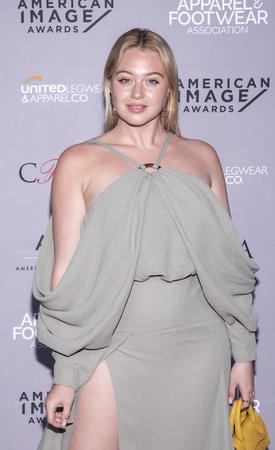 New York, NY, USA - April 15, 2019: Iskra Lawrence attends AAFA American Image Awards 2019 at The Plaza, Manhattan