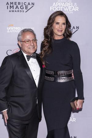 New York, NY, USA - April 15, 2019: Brooke Shields and Rick Helfenbein attend AAFA American Image Awards 2019 at The Plaza, Manhattan