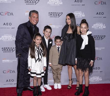 New York, NY, USA - April 15, 2019: Isaac Ash with family attend AAFA American Image Awards 2019 at The Plaza, Manhattan