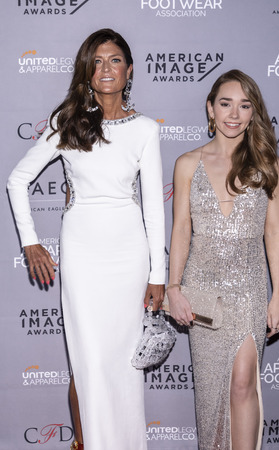 New York, NY, USA - April 15, 2019: Ruthie Davis and Holly Taylor  attend AAFA American Image Awards 2019 at The Plaza, Manhattan 写真素材 - 120756513