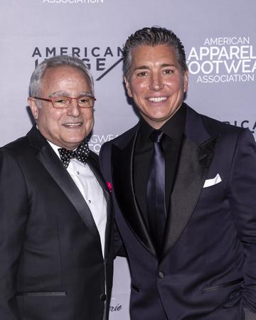 New York, NY, USA - April 15, 2019: Rick Helfenbein and Isaac Ash attend AAFA American Image Awards 2019 at The Plaza, Manhattan