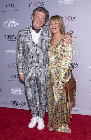 New York, NY, USA - April 15, 2019: Nick Graham and Elizabeth Sebbelov attend AAFA American Image Awards 2019 at The Plaza, Manhattan