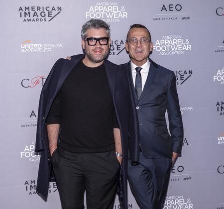 New York, NY, USA - April 15, 2019: Brandon Maxwell and Steven Kolb attend AAFA American Image Awards 2019 at The Plaza, Manhattan