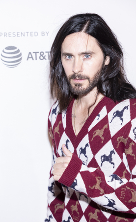 New York, NY, USA - April 27, 2019: Jared Leto attends A Day In The Life Of America premiere during 2019 Tribeca Film Festival at The Stella Artois Theatre, Manhattan
