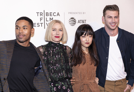 New York, NY, USA - April 28, 2019: Kevin Harrison Jr., Naomi Watts, Andrea Bang, Noah Gaynor attend