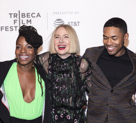 New York, NY, USA - April 28, 2019: Noah Gaynor, Naomi Watts and Kevin Harrison Jr. attend Luce premiere during 2019 Tribeca Film Festival at The Stella Artois Theatre, Manhattan