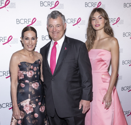 New York, NY, USA - May 15, 2019: Jane Hudis, William P. Lauder and Grace Elizabeth attend the Breast Cancer Research Foundation 2019 Hot Pink Party at Park Avenue Armory, Manhattan