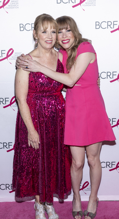 New York, NY, USA - May 15, 2019: Eileen Bigsby (L) and Emma Myles attend the Breast Cancer Research Foundation 2019 Hot Pink Party at Park Avenue Armory, Manhattan