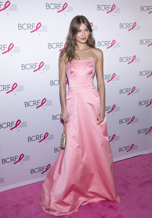New York, NY, USA - May 15, 2019: Grace Elizabeth attends the Breast Cancer Research Foundation 2019 Hot Pink Party at Park Avenue Armory, Manhattan Sajtókép