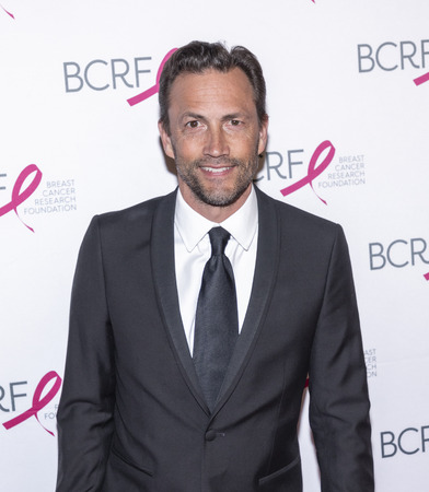 New York, NY, USA - May 15, 2019: Andrew Shue attends the Breast Cancer Research Foundation 2019 Hot Pink Party at Park Avenue Armory, Manhattan Sajtókép