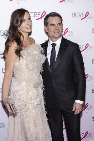 New York, NY, USA - May 15, 2019: Ingrid Vandebosch and Jeff Gordon  attend the Breast Cancer Research Foundation 2019 Hot Pink Party at Park Avenue Armory, Manhattan