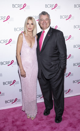 New York, NY, USA - May 15, 2019: Candace Bushnell and William P. Lauder attend the Breast Cancer Research Foundation 2019 Hot Pink Party at Park Avenue Armory, Manhattan Editorial