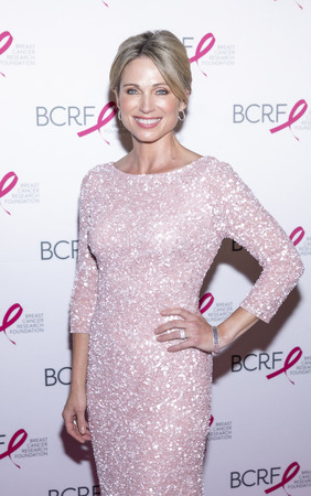 New York, NY, USA - May 15, 2019: Amy Robach attends the Breast Cancer Research Foundation 2019 Hot Pink Party at Park Avenue Armory, Manhattan