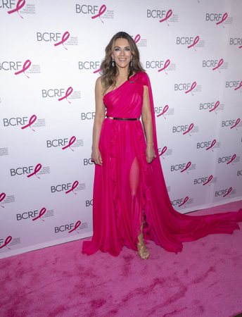 New York, NY, USA - May 15, 2019: Elizabeth Hurley attends the Breast Cancer Research Foundation 2019 Hot Pink Party at Park Avenue Armory, Manhattan Sajtókép