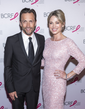 New York, NY, USA - May 15, 2019: Andrew Shue and Amy Robach attend the Breast Cancer Research Foundation 2019 Hot Pink Party at Park Avenue Armory, Manhattan Editorial