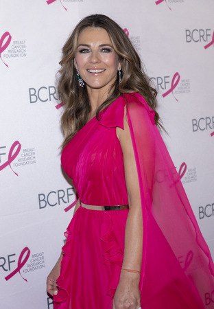 New York, NY, USA - May 15, 2019: Elizabeth Hurley attends the Breast Cancer Research Foundation 2019 Hot Pink Party at Park Avenue Armory, Manhattan Editorial