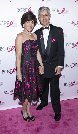 New York, NY, USA - May 15, 2019: Laura Lauder and Gary Lauder attend the Breast Cancer Research Foundation 2019 Hot Pink Party at Park Avenue Armory, Manhattan