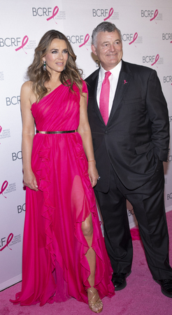 New York, NY, USA - May 15, 2019: Elizabeth Hurley and William P. Lauder attend the Breast Cancer Research Foundation 2019 Hot Pink Party at Park Avenue Armory, Manhattan