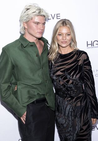 New York, NY, USA - September 5, 2019: Jordan Barrett and Kate Moss attend The Daily Front Row's 7th Fashion Media Awards at The Rainbow Room at Rockefeller Center