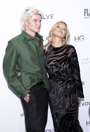 New York, NY, USA - September 5, 2019: Jordan Barrett and Kate Moss attend The Daily Front Row 7th Fashion Media Awards at The Rainbow Room at Rockefeller Center