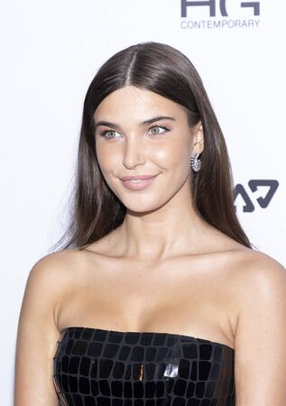 New York, NY, USA - September 5, 2019: Charlotte DAlessio wearing Alex Perry attends The Daily Front Row 7th Fashion Media Awards at The Rainbow Room at Rockefeller Center