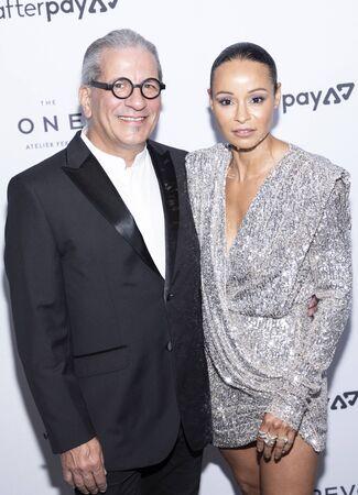 New York, NY, USA - September 5, 2019: Steven Lagos and Sai De Silva attend The Daily Front Row 7th Fashion Media Awards at The Rainbow Room at Rockefeller Center